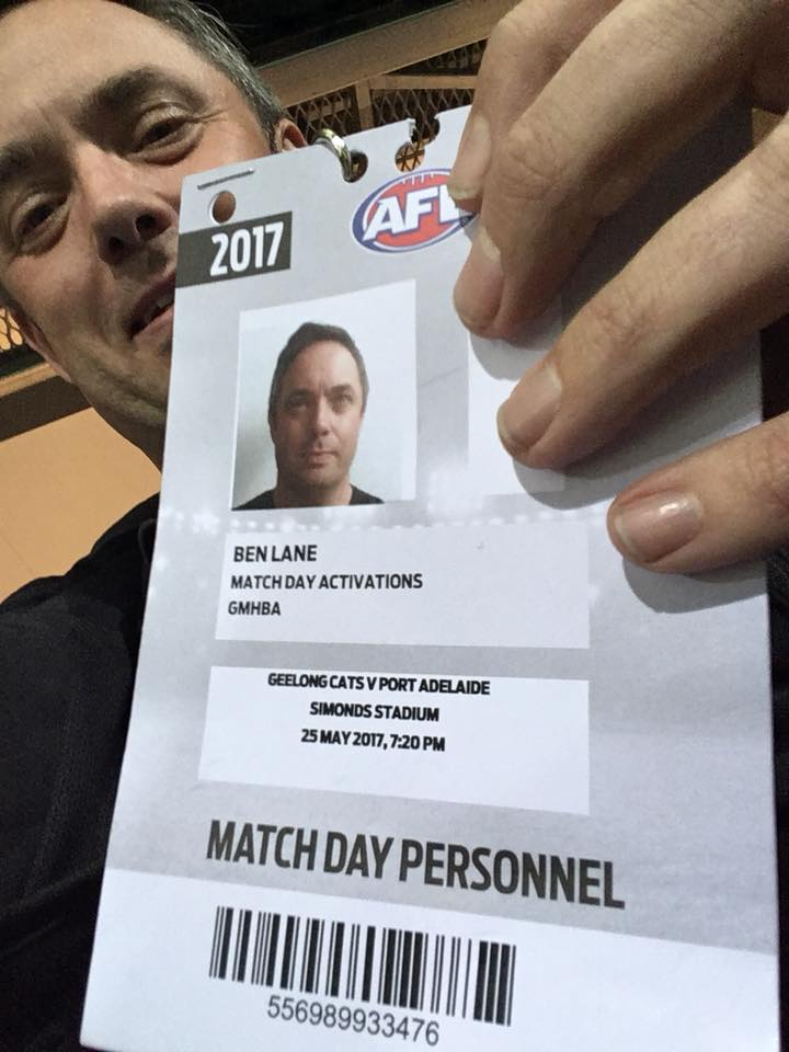 AFL action in Geelong
