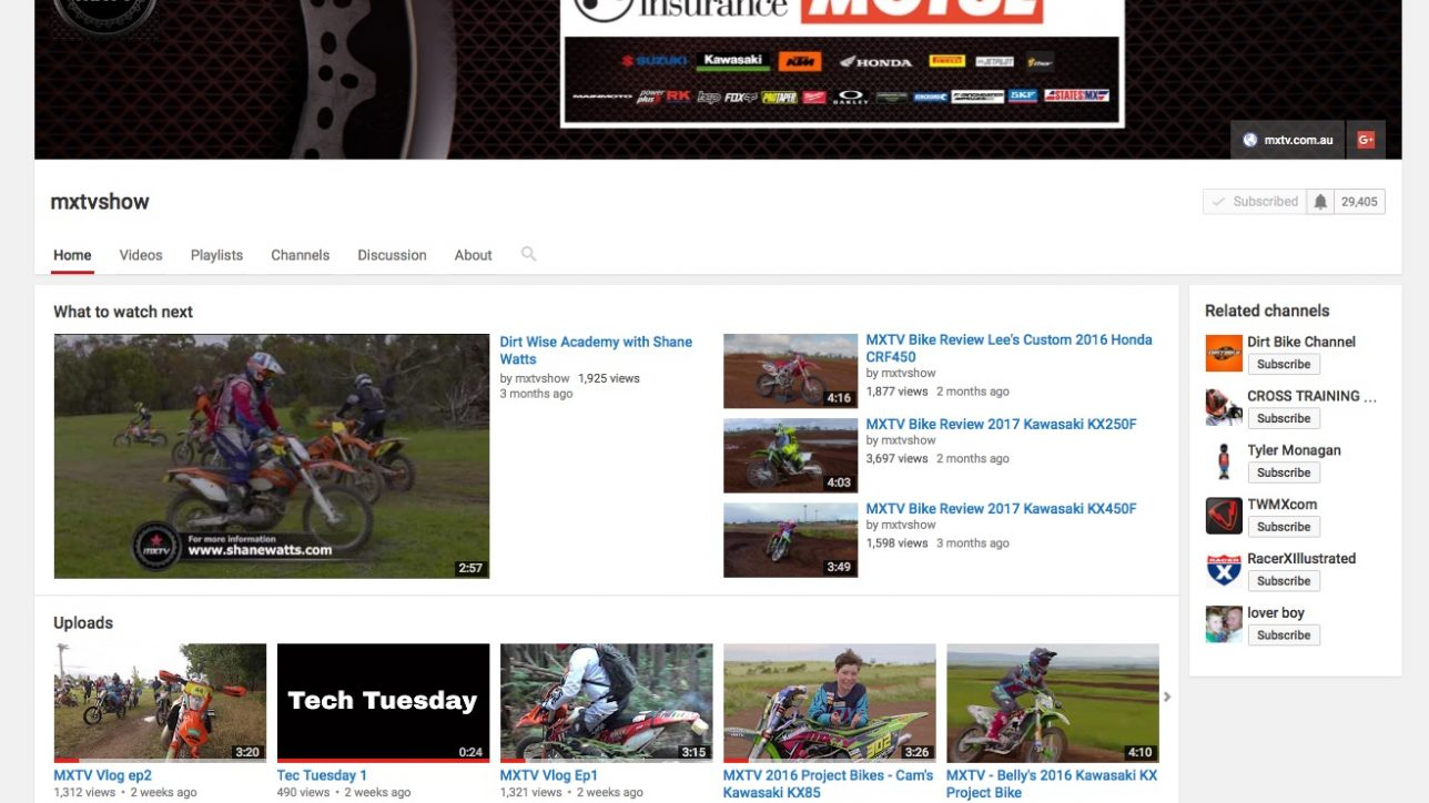 MXTV Youtube Channel Melbourne